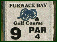 Furnace Bay Golf Course Hole 9 Tips