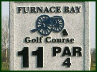 Furnace Bay Golf Course Hole 11 Tips
