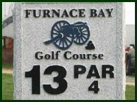 Furnace Bay Golf Course Hole 13 Tips