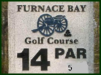 Furnace Bay Golf Course Hole 14 Tips