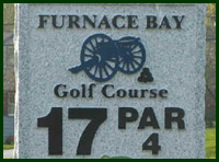 Furnace Bay Golf Course Hole 17 Tips