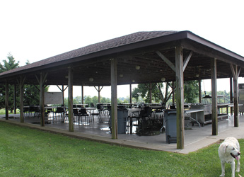 Outdoor Seating Picnic Tables Covered Gazeboe